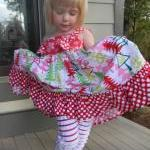 Girl's Peppermint Ruffle Le..